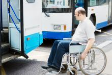 wheelchair user attempting to board a bus